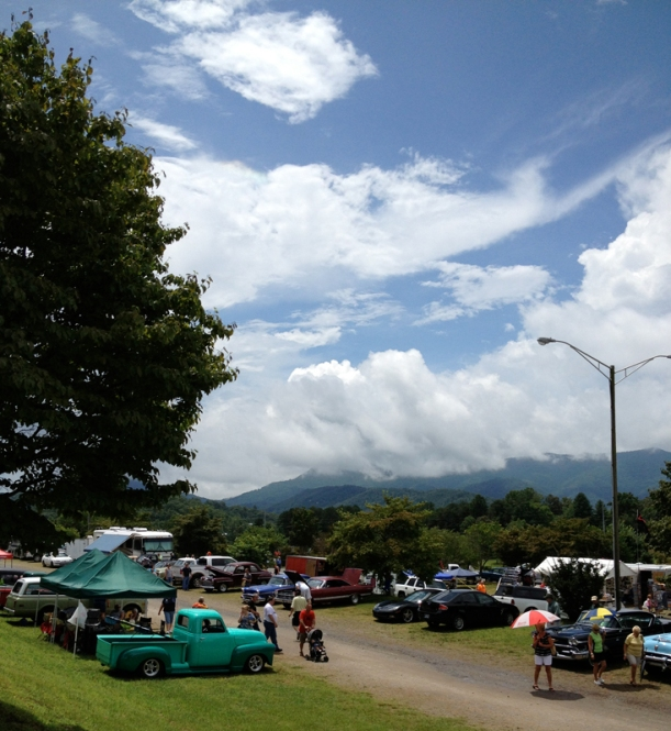 Entering Georgia Mountain Moonshine Classic Car Show