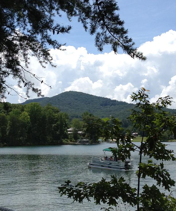 Boaters enjoying the lake