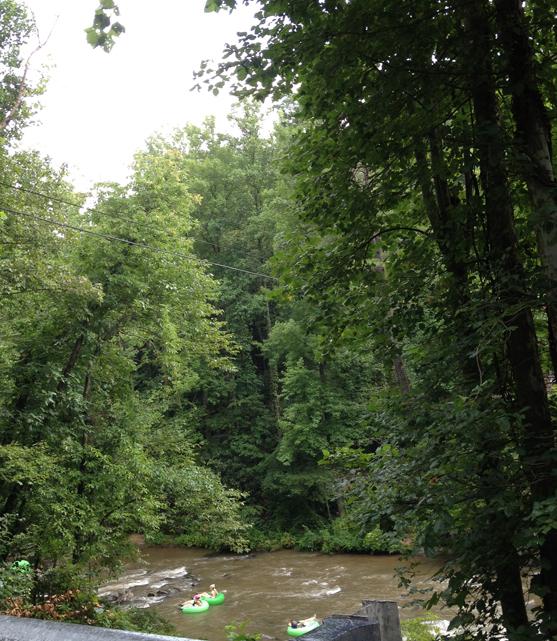 Tubing down the river near Helen, GA